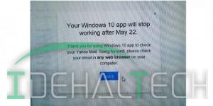 توقف کار اپلیکیشن ویندوز 10 یاهو