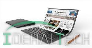 رونمایی کمپانی لنوو از طرح یک لپ تاپ انعطاف پذیر جذاب