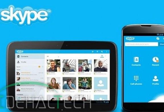 انتشار اسکایپ ۸ برای سیستم عامل اندروید