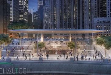 اپل فروشگاه شیکاگو را شبیه به مک بوک می سازد