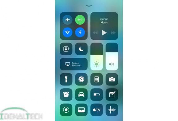 آموزش استفاده از کنترل سنتر جدید در iOS11