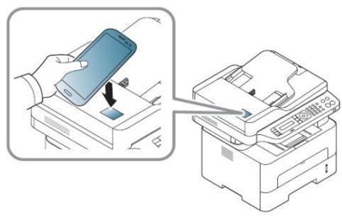 گوشی موبایل را در نزدیکی تگ NFC پرینتر قرار دهید