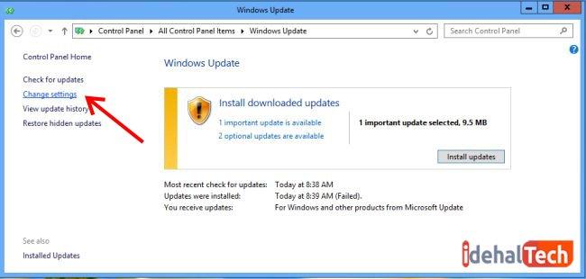 تنظیمات آپدیت خودکار ویندوز 10 را تغییر دهید