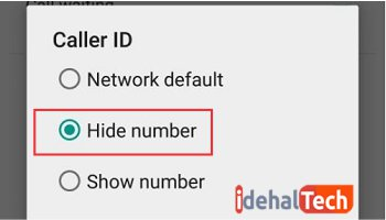 گزینه hide number را انتخاب کنید