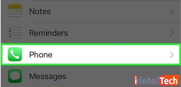 گزینه phone را انتخاب کنید