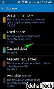 روی cashe data ضربه بزنید