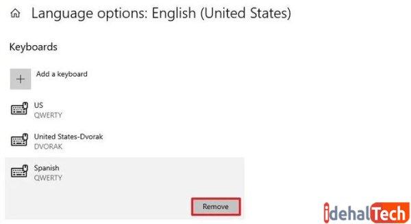 گزینه remove را انتخاب کنید