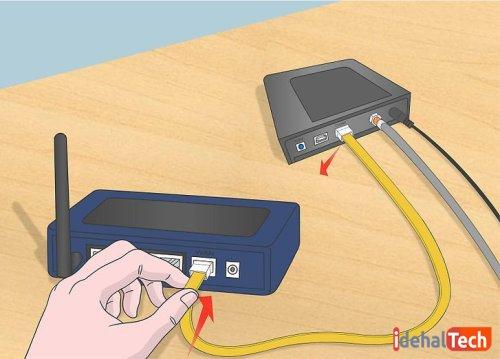 اتصال کابل اترنت به روتر