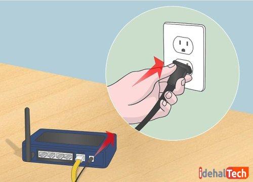 روتر را به برق وصل کنید