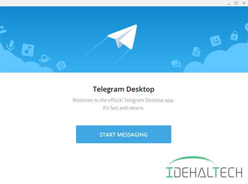 صفحه ابتدایی تلگرام