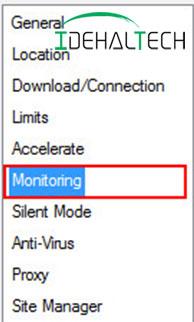 انتخاب گزینهMonitoring mode
