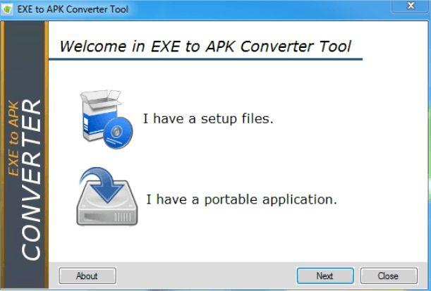 EXE to APK converter