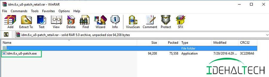 کلیک روی فایل کرک