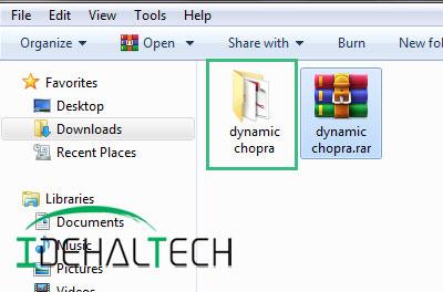 استخراج فایل فشرده با گزینه Extract to