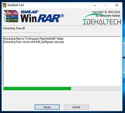 نصب WinRAR