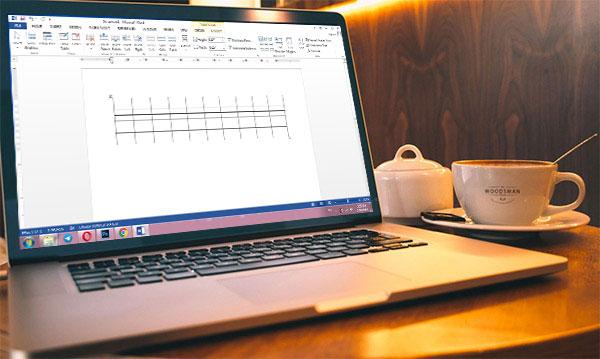 طراحی و ویرایش جدول در ورد 2013