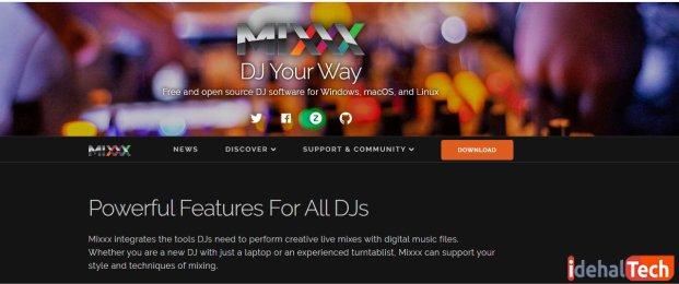 برنامه mixxx