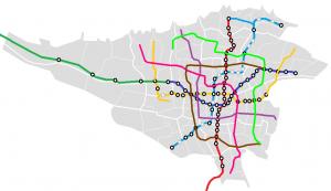 نقشه مترو تهران روی نقشه