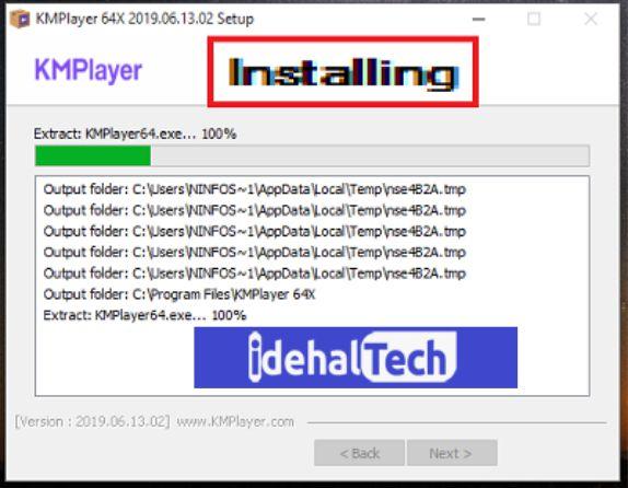 مراحل نصب برنامه kmplayer