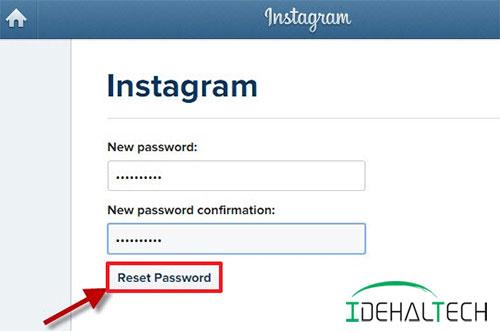 بازیابی رمز عبور اینستاگرام