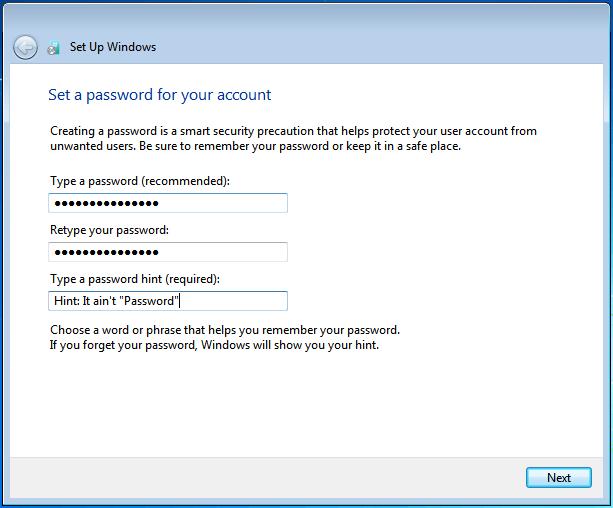 وارد کردن رمز عبور