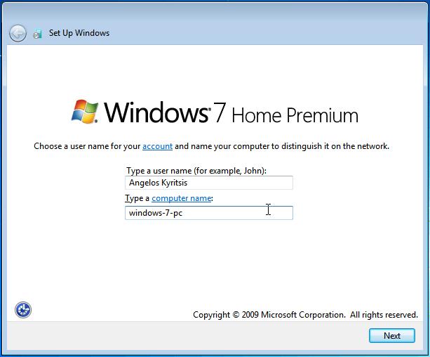 وارد کردن نام کاربری و کامپیوتر