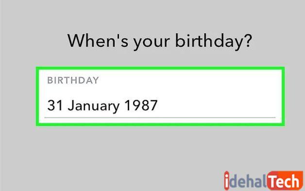 تاریخ تولد خود را وارد کنید