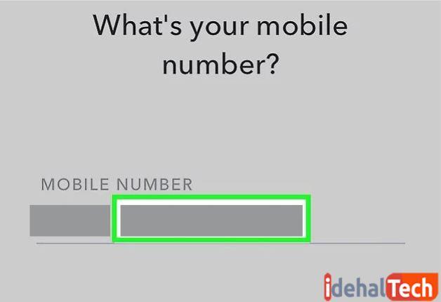 شماره موبایل خود را وارد کنید