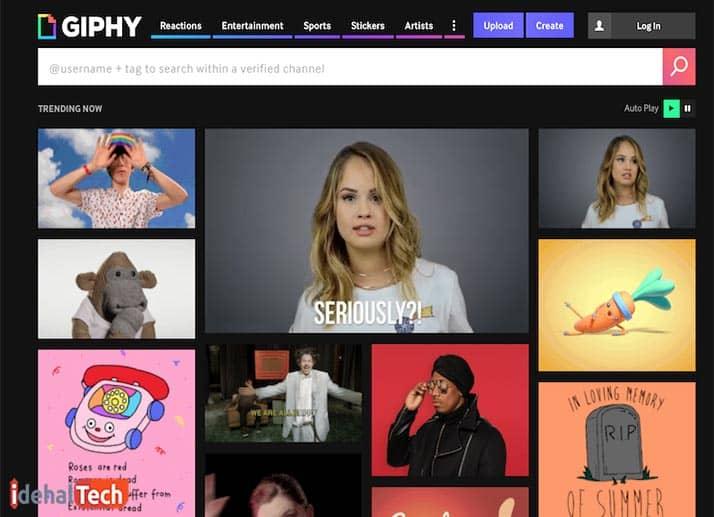وبسایت giphy