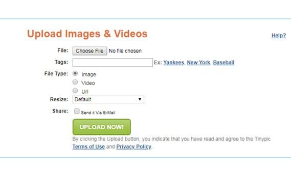 قرار دادن عکس در اینترنت