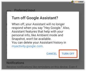 دستیار صوتی گوگل را خاموش کنید