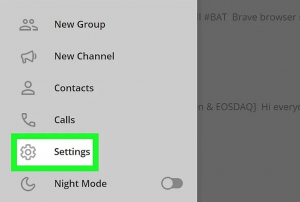 setting در تلگرام