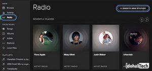 رادیو در spotify