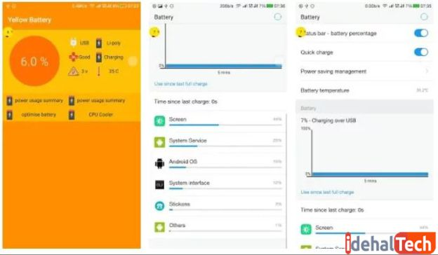 اپلیکیشن ذخیره باتری Yellow Battery Saver