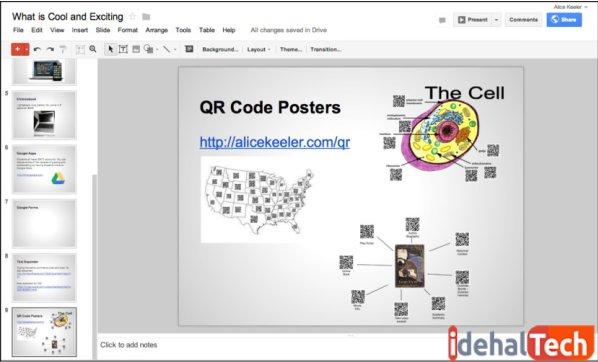 ابزار google slides