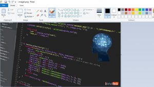 روش کپی و پیس در Microsoft Paint
