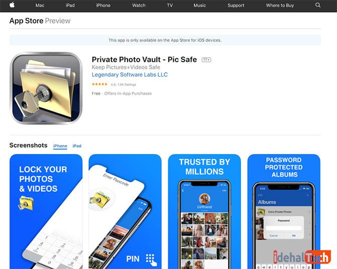 برنامه Photo Vault مخفی کردن تصاویر با Photo Vault