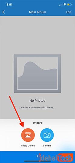 افزودن تصاویر از Photo Library