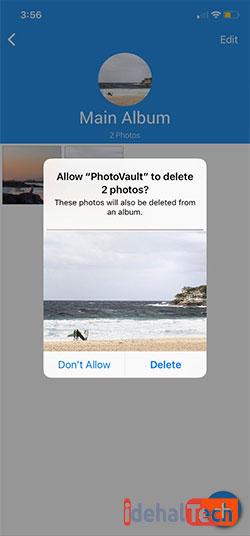حذف عکس ها از برنامه
