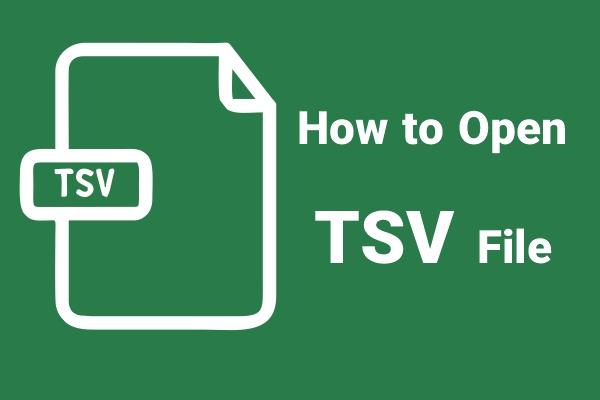 باز کردن فایل tsv