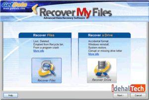 ریکاوری کردن فایل ها