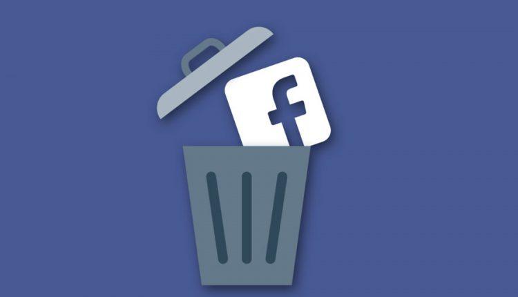 حذف حساب کاربری فیسبوک