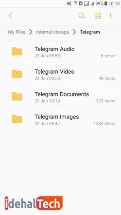 موارد موجود در پوشه تلگرام