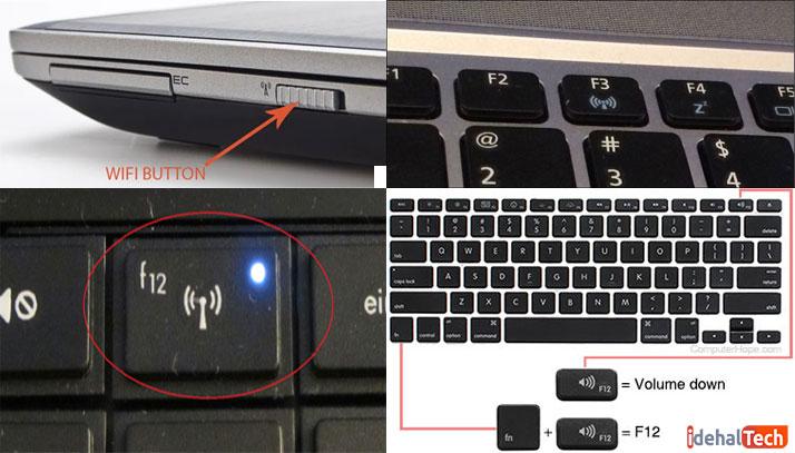 دکمه-وای-فای-لپ-تاپ