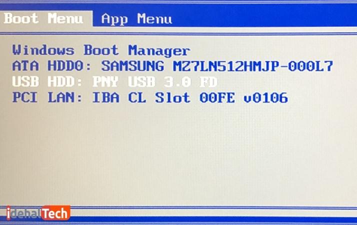 بوت از طریق USB