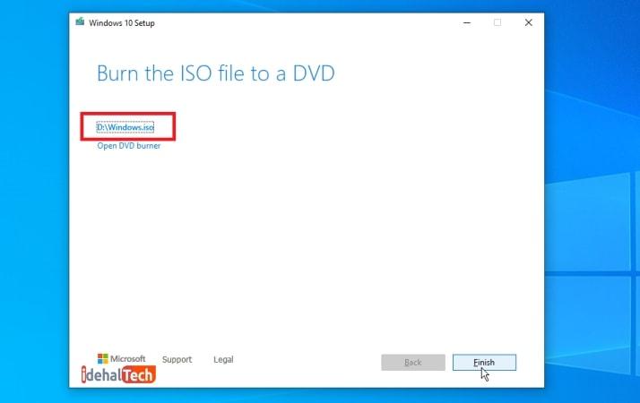 اتمام عملیات دانلود فایل ISO