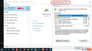 برنامه Disk-clean-up ویندوز