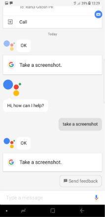 اسکرین شات با دستیار صونی گوگل