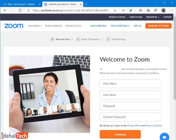 اطلاعات-خود-را-برای-ایجاد-اکانت-Zoom-تکمیل-کنید