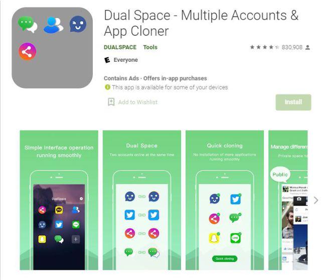 اپلیکیشن dual space